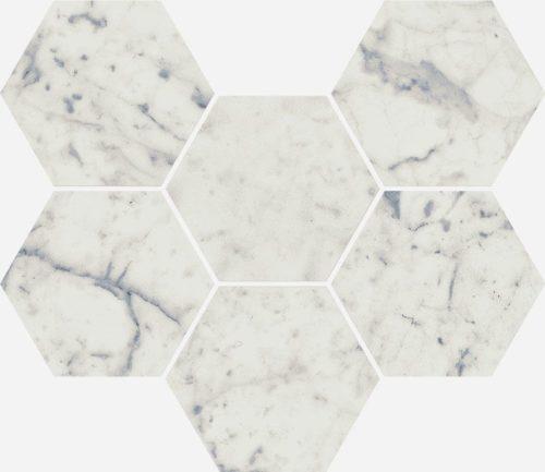 Керамогранит Italon «Charme Extra Floor Project» Мозаика Carrara Hexagon патинированный (25Х29 см)
