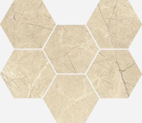 Керамогранит Italon «Charme Extra Floor Project» Мозаика Arcadia Hexagon патинированный (25Х29 см)