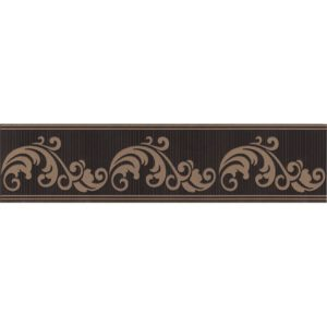 Бордюр KERAMA MARAZZI «Версаль» коричневый обрезной STG\B610\11129R (30Х7.2Х0.9 см)