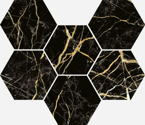 Керамогранит Italon «Charme Extra Floor Project» Мозаика Laurent Hexagon патинированный (25Х29 см)