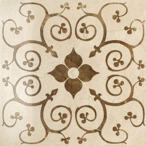 Керамогранит (декор) Italon «Charme Floor Project» Cream Bouquet люкс (59Х59 см)