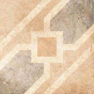 Керамогранит (вставка) GRASARO «Tivoli» серый G-242/S/t04 (9.5Х9.5Х0.9 см)