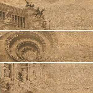 Керамогранит (декор) GRASARO «Italian Wood» медовый G-251/SR/d01 (60Х20Х0.8 см)