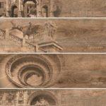 Керамогранит (декор) GRASARO «Italian Wood» темно-коричневый G-252/SR/d01 (60Х20Х1 см)