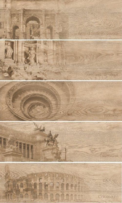 Керамогранит (декор) GRASARO «Italian Wood» бежевый G-250/SR/d01 (60Х20Х1 см)