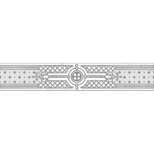 Керамогранит (бордюр) GRASARO «Classic Marble» G-270/G/f02 (40Х7Х0.8 см)