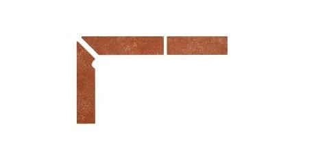 Плинтус для ступеней Interbau & Blink «Alpen» 059 Красная глина, левый, 3 части