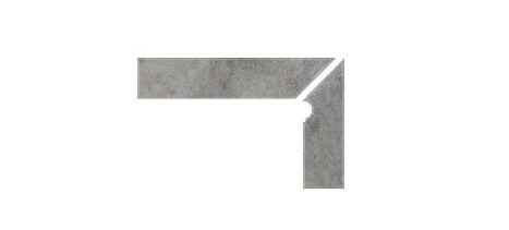 Плинтус для ступеней Interbau & Blink «Nature Art»119 Quarz Grau, правый, 2 части