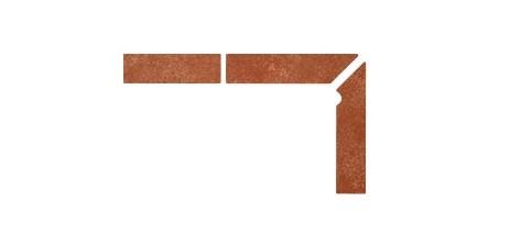 Плинтус для ступеней Interbau & Blink «Alpen» 059 Красная глина, правый, 3 части