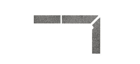 Плинтус для ступеней Interbau & Blink «Alpen» 058 Антрацит, правый, 3 части
