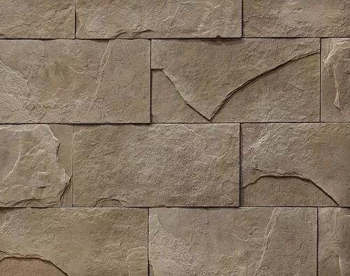 """Декоративный камень Bergstone """"Отвесный склон"""" 161001 светло-бежевый (29.2Х14.5Х0.7-1.7 см)"""