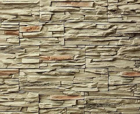 Декоративный камень BERGSTONE «Скалистый берег» 160108 оливковый (19.2/29.4/38.6Х9.9Х3 см)