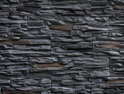 Декоративный камень BERGSTONE «Скалистый берег» 160119 черный пепел (19.2/29.4/38.6Х9.9Х3 см)