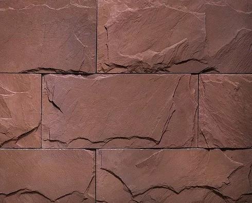 """Декоративный камень Bergstone """"Айсризенвельт"""" 162005 красный (37.7Х18Х1.2-1.7 см)"""