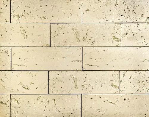 "Декоративный камень Bergstone ""Известковый туф"" 162100 белый (29.7Х10Х1 см)"
